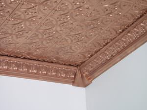 Ceiling in Copper