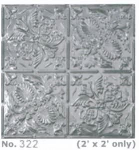 "Metal 2x2 ""Tin"" Wall and Ceiling Tile Coated Aluminum"