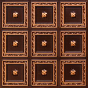 "8"" x 8"" Pattern on 24"" x 24"" Glue Up Plastic Vinyl Ceiling Tile"