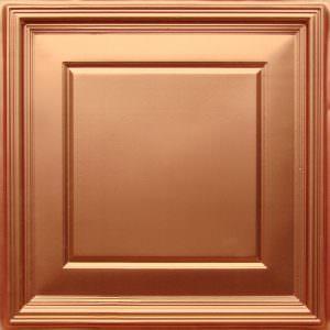 Copper Ceiling Tiles Glue Up 2x2  PVC