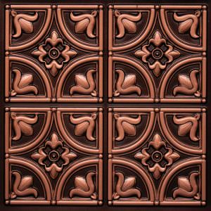 Tulip Faux Antique Copper 2x2 PVC