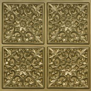 Faux Brass Plastick Ceiling Tile PVC