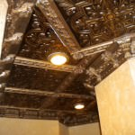 Interior Designer Jeneen Este of Este Design created this Beautiful Ceiling