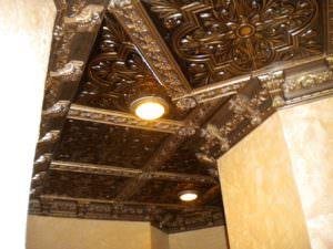 Interior Designer Jeneen Este of Este Design created this Beautiful Ceiling