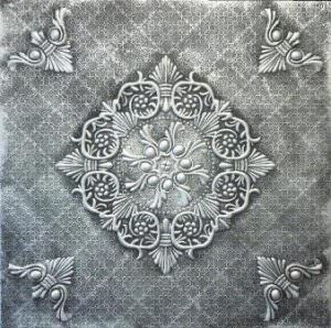 Decorative Hand Painted Foam Ceiling Tiles