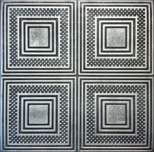 """Antique Silver Hand Painted ceiling tiles 20""""x20"""""""