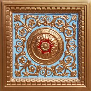 Faux Gold Sky Blue RED Plastic Tile