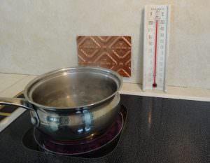 PVC Backsplash boil water