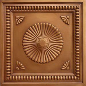 Cupolas Antique Gold 3d Tiles Drop in