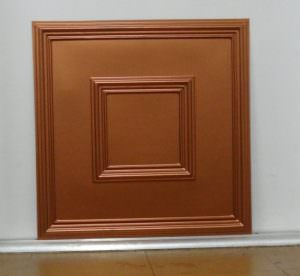 Faux Copper PVC  2x2 Slightly Imperfection