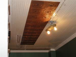 Decorative Ceiling Tile Overlapping edges