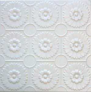 Glue up styrofoam ceiling tiles 20x20