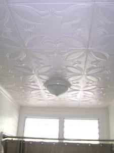 Shower tile install glue up 20x20