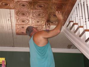 Decorative Ceiling Tile Glue to Most Any Surface