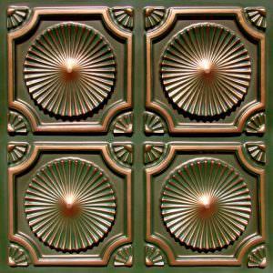 "Plastic Vinyl Ceiling Tile 12"" x 12"" Ceiling Tile Pattern on 24"" x 24"" Glue Up"