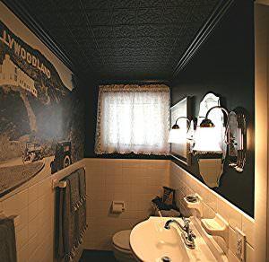 Black Decorative Ceiling Tile INSTALL
