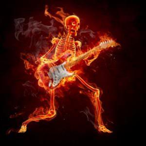 Guitarist Fiery Illustration