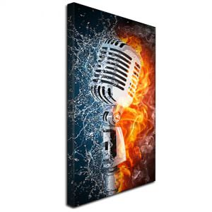 Steel Mic on Fire doused with Water