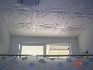 Bathroom ceiling tile