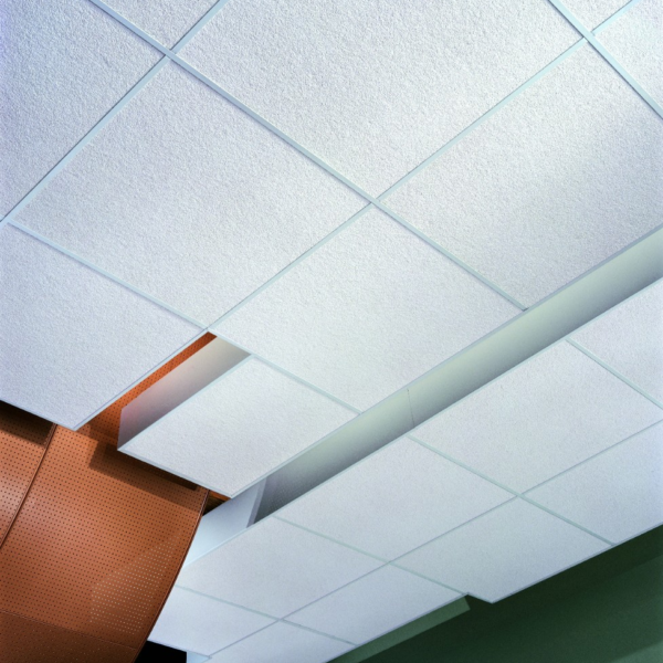 Decorative Grid And Glue Over Popcorn Ceiling Tiles And