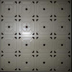 """6x6 pattern PVC  24""""x24""""  -  4 tiles only!!!!"""