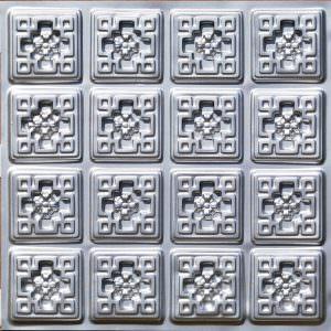 "6"" x 6"" Pattern on 24"" x 24"" Glue Up Plastic Vinyl Ceiling Tile"