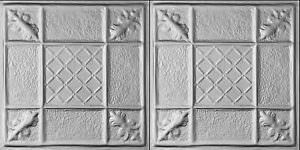 Metal 2X2 Steel Ceiling Tile and wall backsplash Pattern of 2 TILES