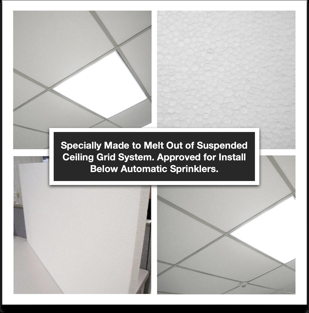 foam melt away ceiling tiles