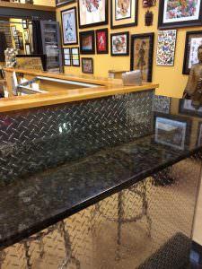 Decorate Bar PVC Backsplash Faux Tin Silver WC-55