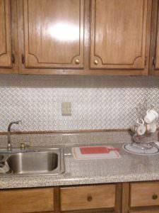 Kitchen Back Splash Glue up WC-20 Faux Tin Silver