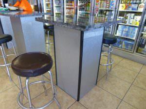 Decorate Store PVC Backsplash WC-30 Faux Silver