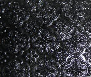 Remodeling Kitchen Backsplash Faux Tin Black Matt