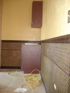 Glue to wall PVC Back splash WC-20 Antique Gold