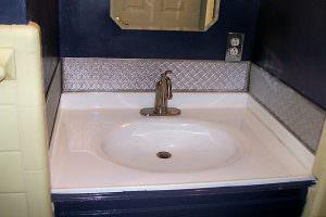 Faux Silver WC-20 Sink PVC Backsplash