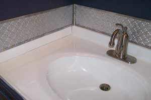 PVC Backsplash Sink