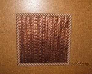 Faux Antique Copper WC-10 PVC Back Splash