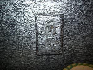 Faux Antique Silver WC-30 PVC Backsplash