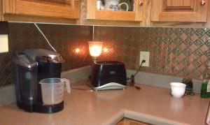 Patina Copper WC-80 PVC Backsplash