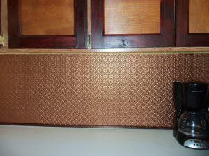 Faux Copper WC-20 PVC Kitchen Backsplash